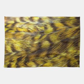 Modelo colorido retro amarillo de la textura de la toallas de cocina