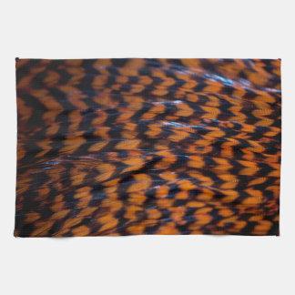 Modelo colorido retro anaranjado de la textura de toallas de cocina
