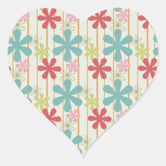 Modelo colorido retro bonito de las rayas de las f colcomanias de corazon personalizadas
