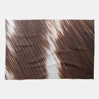 Modelo colorido retro de la textura de la pluma de toalla de cocina
