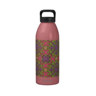 Modelo colorido retro del bohemio del hippy botella de agua