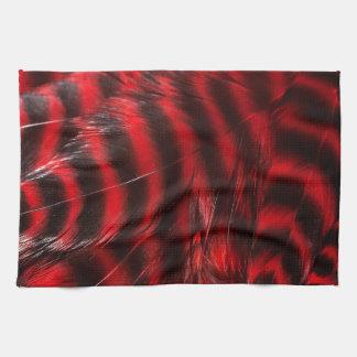 Modelo colorido retro rojo y negro de la textura d toallas