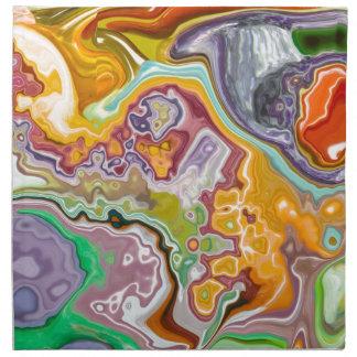 Modelo colorido servilletas