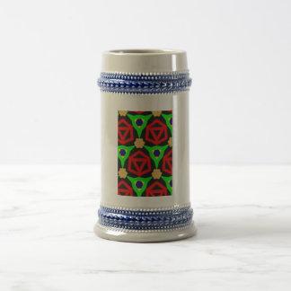 Modelo colorido taza de café