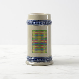 Modelo colorido tribal jarra de cerveza