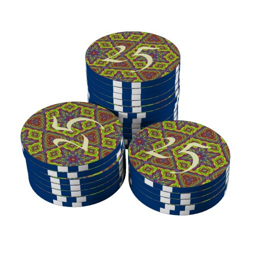 Modelo colorido único moderno juego de fichas de póquer