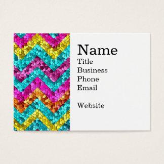 Modelo colorido y de la diversión de la teja del tarjeta de negocios
