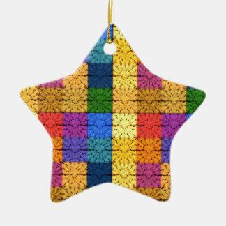 Modelo combinado cuadrado multicolor del bordado ornamente de reyes