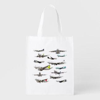 Modelo comercial de la variedad del jet bolsas de la compra
