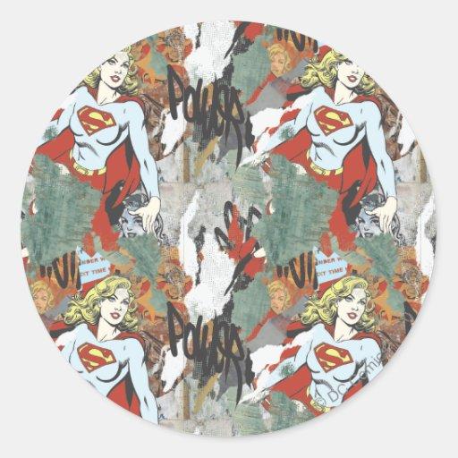 Modelo cómico 8 de las alcaparras de Supergirl Pegatina