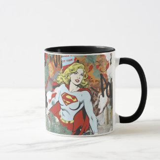 Modelo cómico 8 de las alcaparras de Supergirl Taza