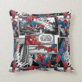 Modelo cómico del panel de Spider-Man Cojín Decorativo