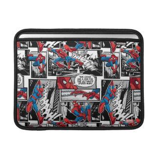 Modelo cómico del panel de Spider-Man Funda MacBook