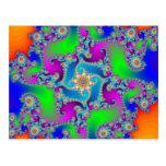 Modelo complejo del fractal: tarjeta postal