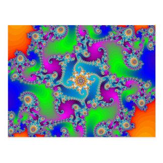 Modelo complejo del fractal: postal