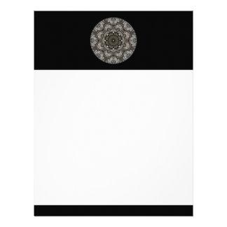 Modelo complejo Diseño decorativo Negro Membrete