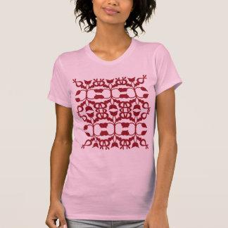 Modelo completo de la voluta color de rosa camisetas