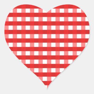 Modelo comprobado guinga roja elegante bonita de calcomanías de corazones personalizadas