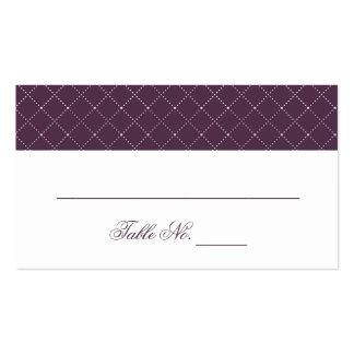 Modelo comprobado púrpura con clase que casa tarjetas de visita