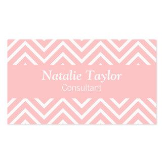 Modelo con clase y elegante, rosado y blanco del g plantillas de tarjeta de negocio