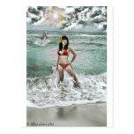 modelo con el delfín postales