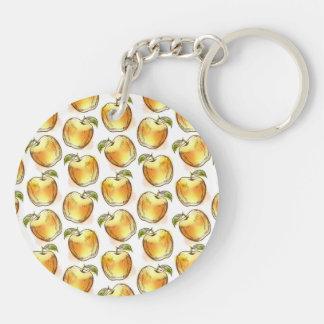 Modelo con la manzana amarilla llavero