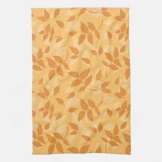 Modelo con las hojas de otoño toalla de cocina