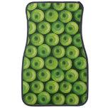 Modelo con las manzanas verdes alfombrilla de auto