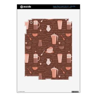 Modelo con los elementos relacionados del café iPad 3 pegatina skin