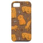 Modelo con los gatos iPhone 5 fundas