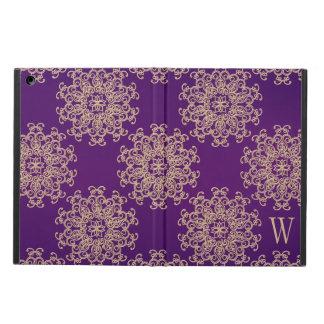Modelo con monograma de la púrpura y del indio del