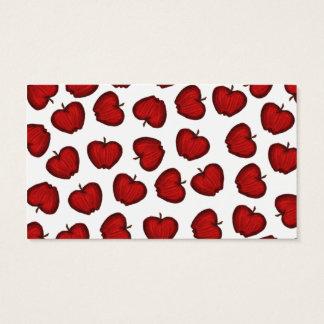 Modelo con sabor a fruta rojo dibujado mano linda tarjetas de visita
