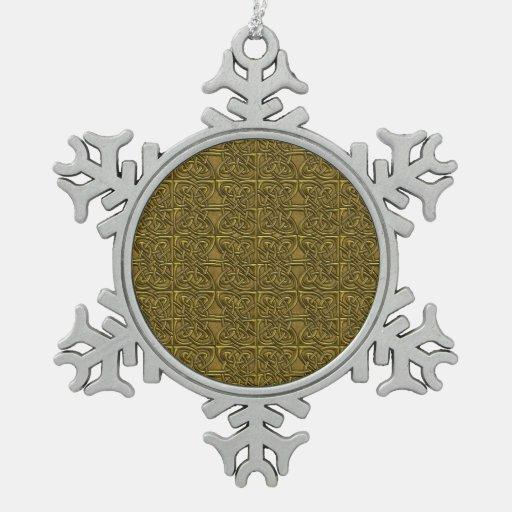Modelo conectado de oro del Celtic de los óvalos Adorno