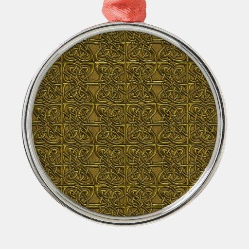 Modelo conectado de oro del Celtic de los óvalos Ornamento Para Reyes Magos