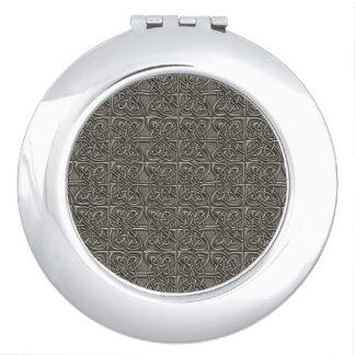 Modelo conectado plata brillante del Celtic de los Espejos De Maquillaje