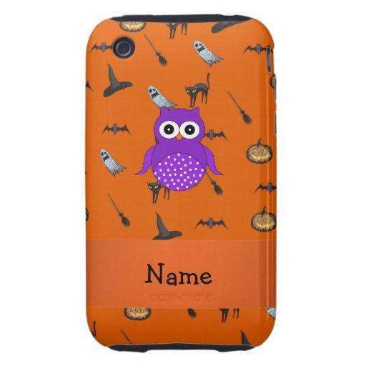 Modelo conocido personalizado de Halloween del búh Tough iPhone 3 Cárcasa