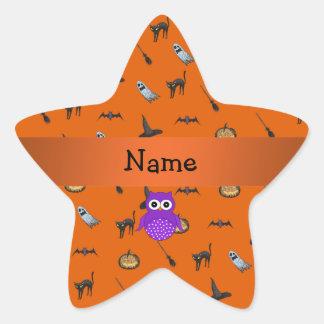 Modelo conocido personalizado de Halloween del búh Colcomanias Forma De Estrellaes Personalizadas