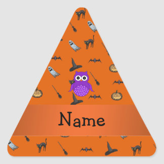 Modelo conocido personalizado de Halloween del búh Calcomanías De Trianguloes Personalizadas