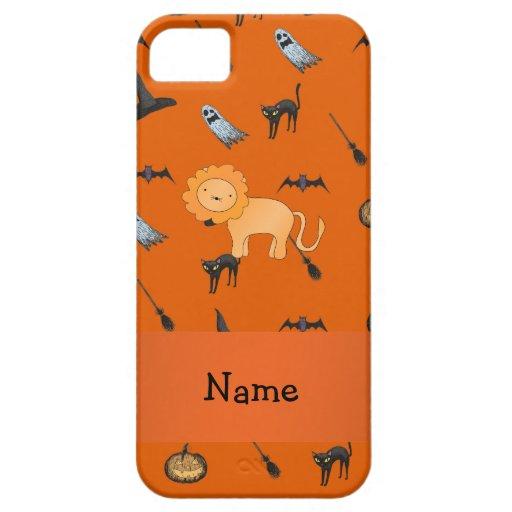 Modelo conocido personalizado de Halloween del leó iPhone 5 Fundas