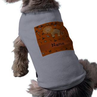 Modelo conocido personalizado de Halloween del leó Camiseta De Perrito
