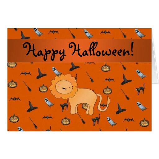 Modelo conocido personalizado de Halloween del leó Felicitacion