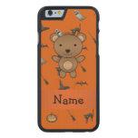 Modelo conocido personalizado de Halloween del oso Funda De iPhone 6 Carved® De Arce