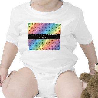 Modelo conocido personalizado de la gimnasia del trajes de bebé