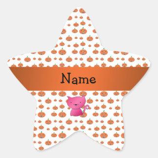Modelo conocido personalizado de las calabazas del pegatina en forma de estrella