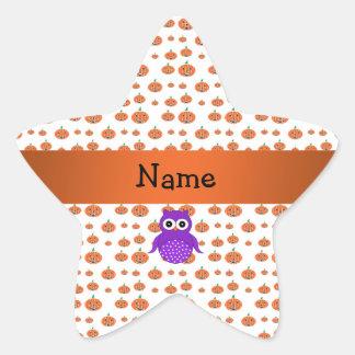 Modelo conocido personalizado de las calabazas del calcomanías forma de estrellas