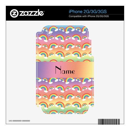 Modelo conocido personalizado de los arco iris skins para eliPhone 3GS