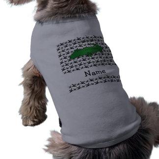 Modelo conocido personalizado de los cráneos del c camisa de mascota