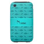 Modelo conocido personalizado del atún de bluefin  iPhone 3 tough cobertura