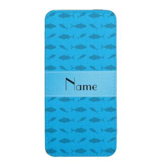 Modelo conocido personalizado del atún de bluefin funda acolchada para iPhone