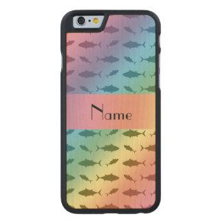 Modelo conocido personalizado del atún de bluefin funda de iPhone 6 carved® de arce